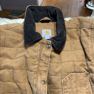 Brown Carhart barn jacket size large